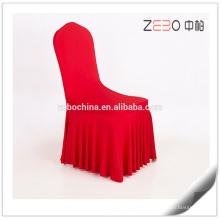 Personalizado Spandex tecido Cheap Chair Covers para Casamento com Ruffles