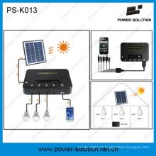 Lâmpada Solaire Puissante Avec USB Mobile Phone Chargeur Et 4W Panneau Solaire + Trois 1W LED ampola + 5200Li-ion Batterie
