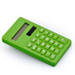 8 chiffres Dual Power Plastic Student Calculator
