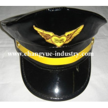 Custom leather uniforme capitaine cap chapeau marin