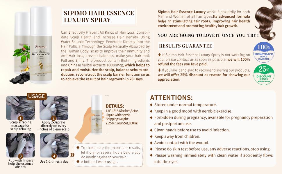 anti hair loss dermal spray