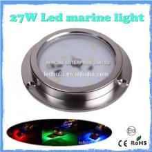 Luz de alta qualidade 27w IP68 LED Marine, SS 316 LED Yacht, Barco, Luz Marinha
