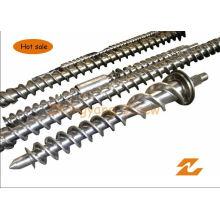 Cylindre bimétallique de vis en caoutchouc de baril de vis d'extrusion de baril de vis en caoutchouc