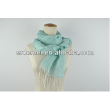 Nice design plain scarf with tassel