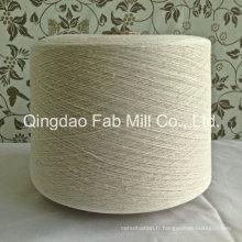 Fils mélangés de coton biologique au chanvre pour le tissage et le tricot