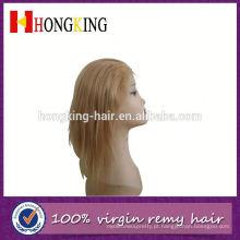 Peruca de cabelo áfrica remy indian frente peruca feita na china