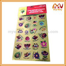 self-adhesive customized cartoon glitter hologram sticker with cartoon shapes or Bible design