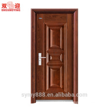 metal front door main design steel entry door metal powder coated finishing painted with stainless lock and handle