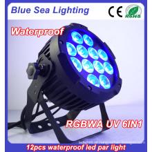 Efeito de casamento ao ar livre par luz / LED DJ eventos par uplighting / LED à prova d'água fase par par pode