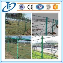 El alambre de púas revestido de PVC galvanizado caliente superventas
