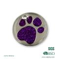 Etiquetas para mascotas de metal en forma de garra de gato personalizadas