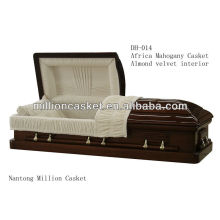Solid mahogany wood price casket