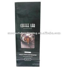 Bolsa de café cuadrada inferior con fuelle y válvula de desgasificación