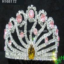 Venda por atacado Shining Elegant Rhinestone Queen Princesa Tiara Crown