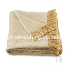 Wholesale of Cotton Throw with Fringe/Fringed Cotton Blanket