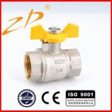 Brass ball gas valve-ZD1302B(F/F)