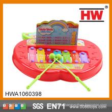 Забавная детская музыкальная игрушка Яблоко фигурного малыша Фортепиано