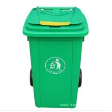 Lixeira de plástico 100 litros de lixo exterior (YW0012)