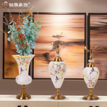 pottery and porcelain glass vases Wedding crystal Candelabra on Sale , Decorative tall wedding candelabra centerpiece for sale