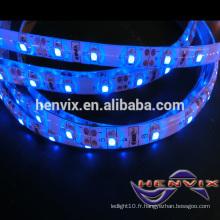 12v bleu led light strip imperméable à l'eau, bande de lumière extérieure