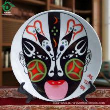 Único estilo branco personalizado cerâmica pratos placa de porcelana pratos