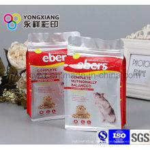 Größe Kundenspezifische Tierfutter Verpackung mit Ziplock