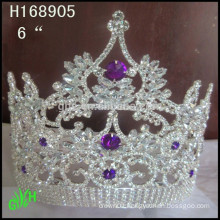 New design wholesale, large rhinestone full pageant round crowns