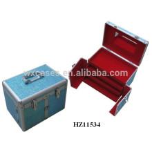 Friseur Aluminiumgehäuse mit 3 Schubladen und ein Spiegel im Inneren