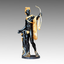 Grand jardin en bronze Sculpture Titan Apollo Craft Statue en laiton Tpls-027j