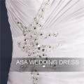 ASA-12 Real Picture Mermaid Full Length Wedding Bridal Gowns 2015 Lace Up Sweetheart Neckline Strapless Imported Wedding Dress