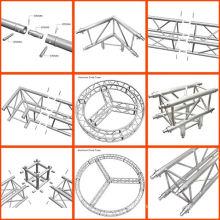 Suporte treliça modular de alumínio Projeto treliça curva Suporte treliça modular de alumínio Projeto treliça curva