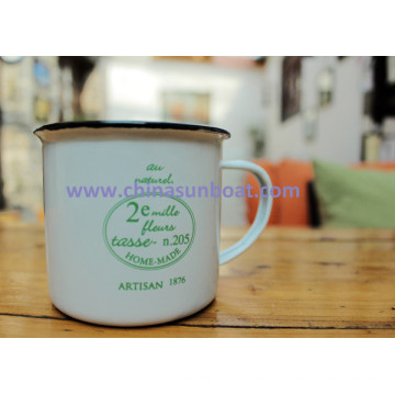 Sunboat Water Cup, Enamel Cup/ Milk Coffee Cup Kitchenware/ Kitchen Appliance Tableware