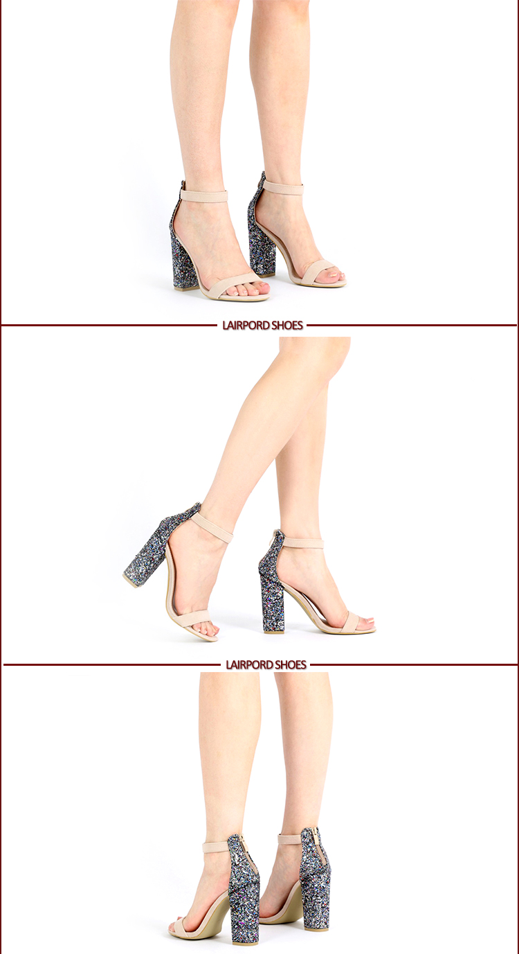 details of high heel women sandals show