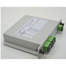 Divisor do plc do custo 1x8 1x4, divisor da fibra óptica 4 melhor e encaixe barato do plc