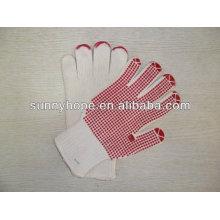 Pvc punktierter handschuh