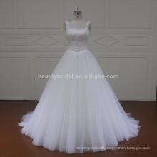 SL437 latest design muslim with strap lace fabric wedding dress 2017