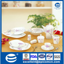 45pcs square hotel&restaurant ware ceramic wholesale