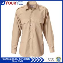 Chemises de travail en coton personnalisées Choth de travail d'été (YWS114)