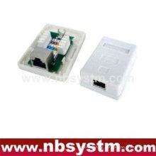 1 port Surface Box STP Cat5e RJ45 PCB jack