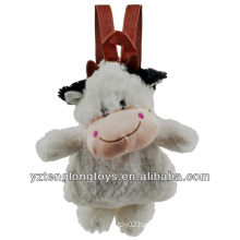 Factory Wholesale Animal Shaped Plush Backpack Cow Backpack