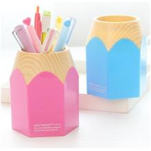 Plastic Pen Holder, Fashion Stripe Desktop Pen Holder