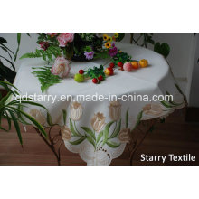 Tulip Table Cloth Embroidery Table Cover Fh-75