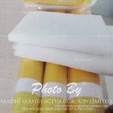 High Tension White/Yellow Polyester Silk Screen Printing Mesh