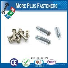 Fabriqué en Taiwan Stainless Steel Security Binding Post Barrel Mating Screw Chicago Screw