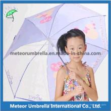 Gewebe und Plastikdach mit Druck Schöner Entwurf scherzt Regenschirm