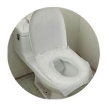 tampas de assento descartáveis do toalete do lenço de papel