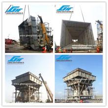 Hopper portuario móvil para el cemento, el carbón, el fertilizante