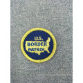 Patch de broderie de badge d'étiquette tissé d'accessoires de vêtement qui respecte l'environnement
