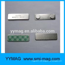 Großhandel Metall magnetischen Namen Abzeichen Inhaber