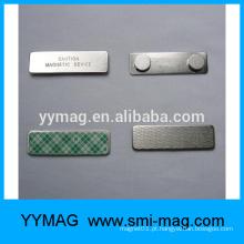 Por atacado metal emblema nome magnético titular